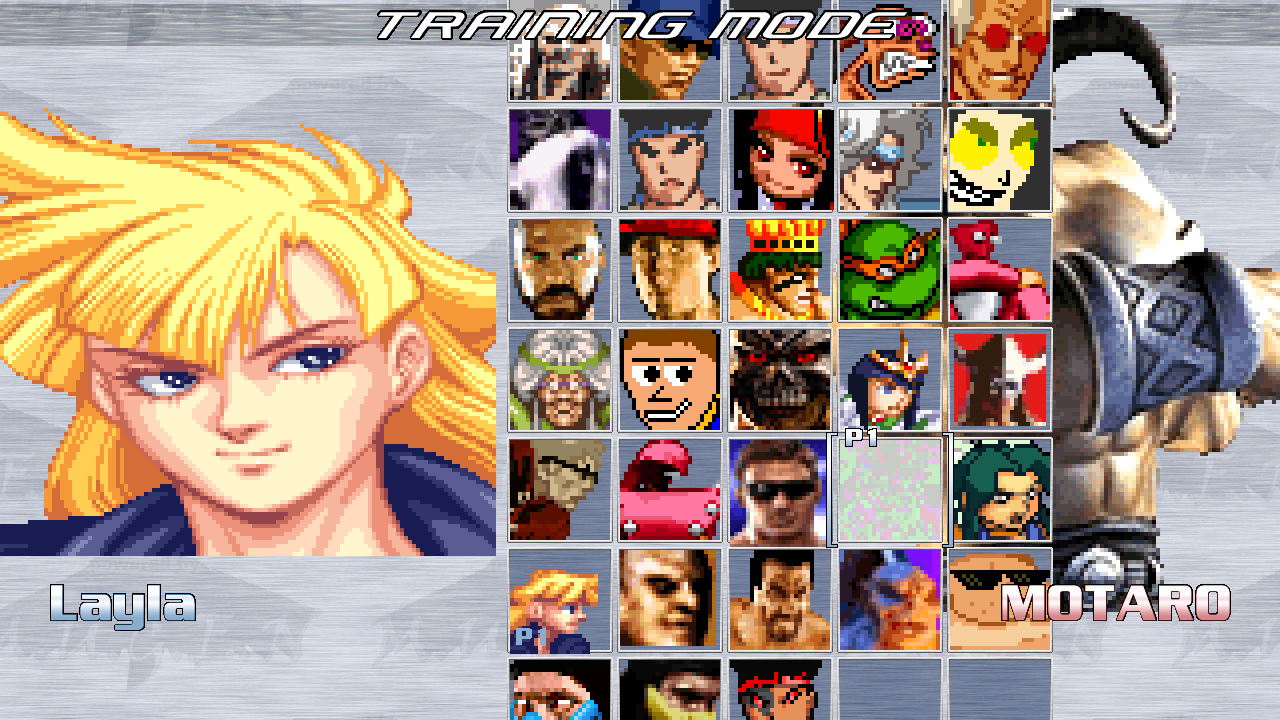 mugen fighting jam 1000 slots
